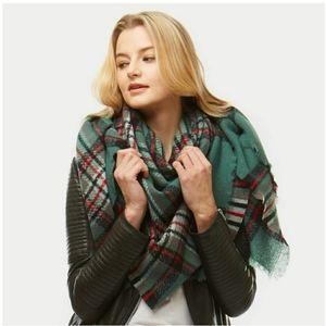 Women winter blanket scarf